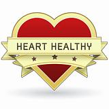 Heart healthy food label or sticker