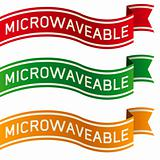 Microwaveable food or product label