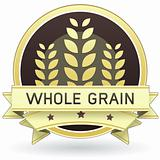 Whole grain food label sticker