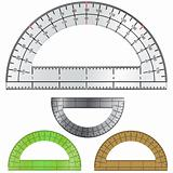 Vector protractor for drafting