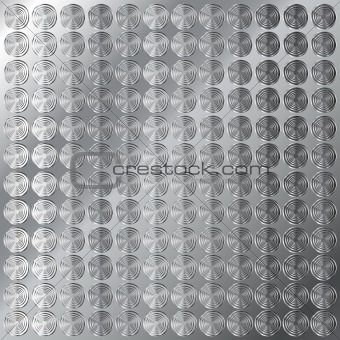 Circular tread metal background texture
