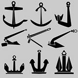 Ship or boat anchor illustration