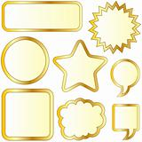 Gold thought and speech bubble sticker