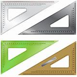 Triangle drafting and measurement tool