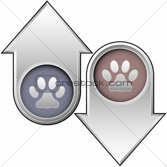 Cat or pet icon on up and down arrows