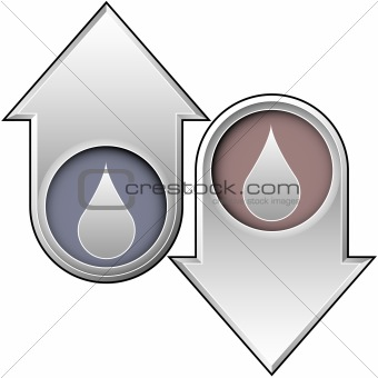 Oil or water icon on up and down arrows