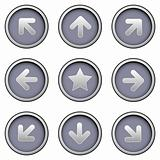 Navigation icons on modern button set