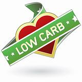 Low Carb food label sticker
