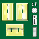 Brass light switches and faceplates