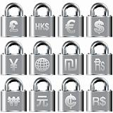 International currency symbols on secure icons