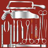 Surgical tool set in vector