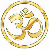 Hindu om religious icon