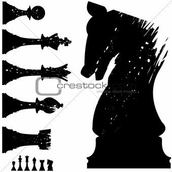 Grunge chess set