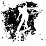 Grunge skateboard or snowboard