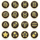 Horoscope symbol button or icon set