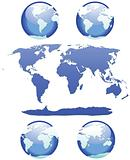 Earth - set of glossy globes