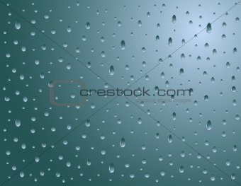 Abstract rain on window