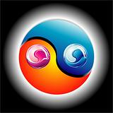 Colorful Ying Yang