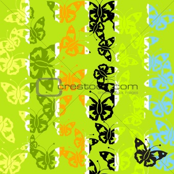 Abstract batterfly pattern