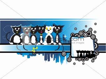 Cityscape, urban frame, kittens