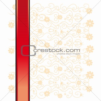 Abstract floral background, lace