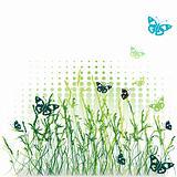 Grass silhouette green, summer background