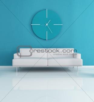 Blue modern interior