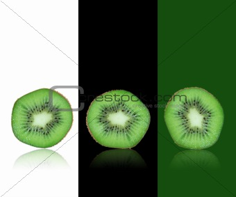Green kiwi background