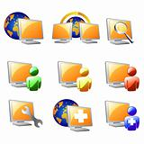 orange website and internet icon