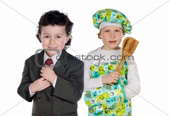 Future cook and businessman