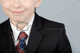 Business boy close-up