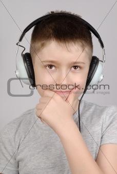 Listening boy