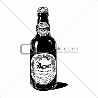 Vintage 1950s Generic Beer