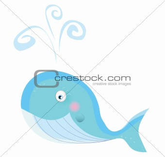 Blue ocean whale.