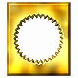 3D Golden Framed Seal