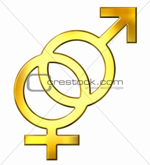 3D Golden Gender Union