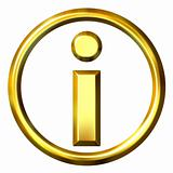 3D Golden Information Symbol