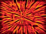 Abstract flame background with fractal elements