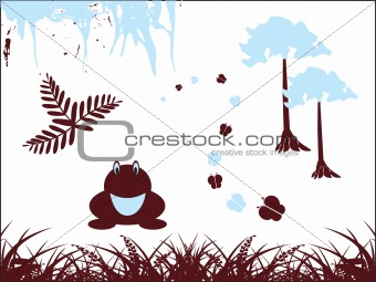 abstract pattern frog background