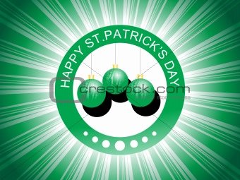 green hanging balls with rays background