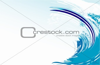 Abstract Wave  Card