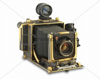 4x5 camera with clipping path