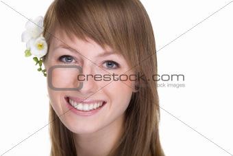 Beautiful women with flower.