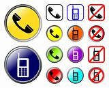 Phones icons, web elements