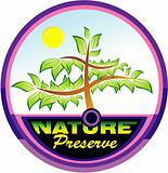 Preserving nature tree emblem
