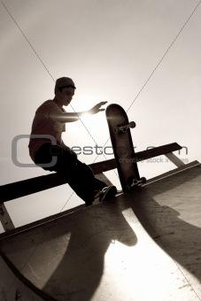 Skateboarder Silhouette