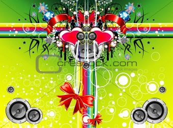 music emotions christmas background 