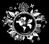 grunge fantasy globe