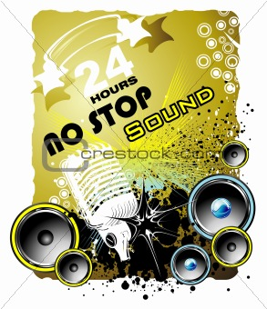 Abstract Music Event grunge style background