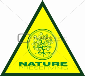 preservating tree triangle icon